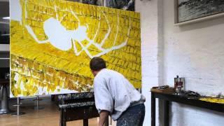 """Dierk Osterloh malt """"Die Gier (mammonism)"""""""