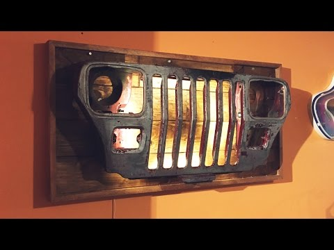 DIY Jeep Grille Wall Light