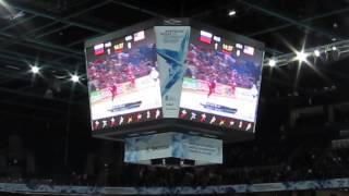 Ирина Нельсон на чемпионате мира по хоккею в Хельсинки.