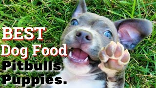 Best Dog Food For Pit bulls Puppies  | How to feed Your PIT BULL Puppies.