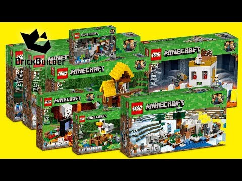 LEGO MINECRAFT TOP 5 of All Time COMPILATION Construction Toy Fast Speed Build - UNBOXING