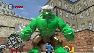 LEGO Marvel Super Heroes (PS4) - Stan Lee / Excelsior Hulk Free Roam Gameplay