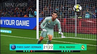 PES 2018 | goalkeeper NEYMAR vs goalkeeper RONALDO | Penalty Shootout | PSG vs Real Madrid