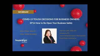 COVID 19 TDBO EP16 – How to Reopen Your Business Safely Webinar Recording