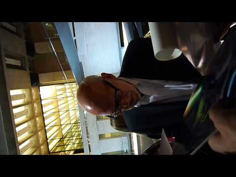 Frank Oz of Star Wars' Yoda signing autographs at Movie Festival in New York