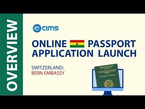 Embassy of Ghana Bern announce launching a new online passport application system