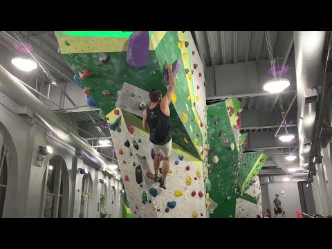 First Ascent: Uptown V5 Purple