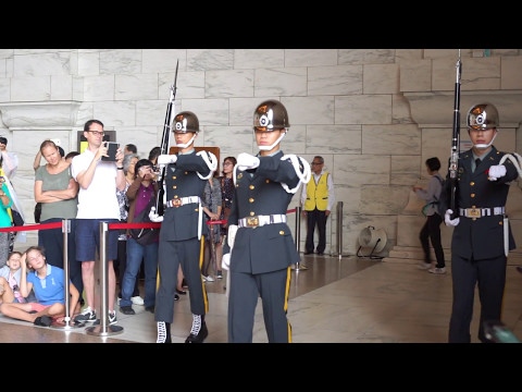 Guards Shift Change  at Chiang Kai-Shek Memorial Hall