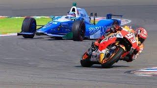 Marc Marquez MotoGP Bike Vs FORMULA F1 Indy Race Car