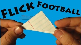 How to Make a Paper Flick Football (Origami) - Rob's World