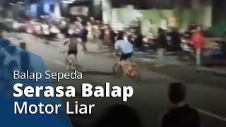 Viral Video Balap Sepeda Layaknya Balapan Liar Motor, Netizen: Ngurangin Polusi Udara