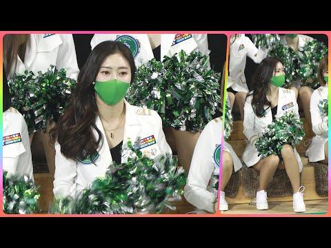 [4K] 치어리더 정다혜 직캠 (cheerleader) - 1/2쿼터 응원 모음 @남자농구(원주DB)/210…