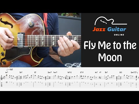Fly Me To The Moon - Melody and Easy Jazz Guitar Solo