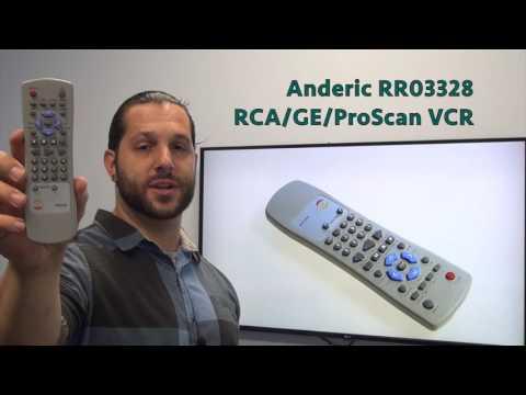 ANDERIC RR03328 RCA/GE/PRO VCR Remote Control