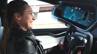 Using Autopilot in Tesla Model X!