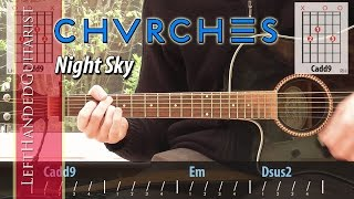 Chvrches - Night Sky | acoustic guitar lesson