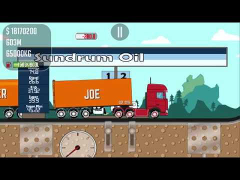TRUCKER JOE PLAYING A TRUCK TRANSPORTING A BRICK TO A MILITARY BASE CONSTRUCTION SITE