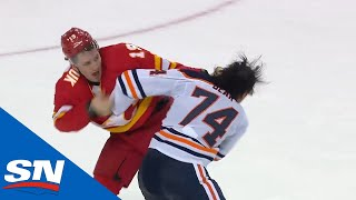 NHL Fights Of The Week: The Battle Of Alberta Is Alive And Well!