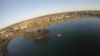 FPV Aerial Chase Red Wing