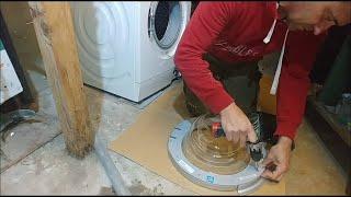 Waschmaschine Türgriff reparieren, Tür nicht öffnen läßt und klemmt. Griff kaputt, Siemens IQ700