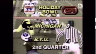 1984 Holiday Bowl Michigan vs. #1 BYU