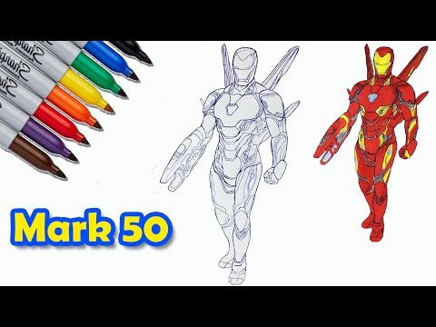 Mark 50 Ironman Iron Man The Avengers Endgame Coloring Pages
