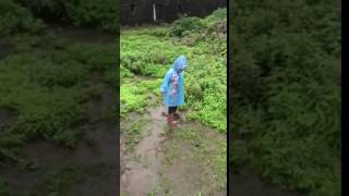 Khushi enjoying rainy day