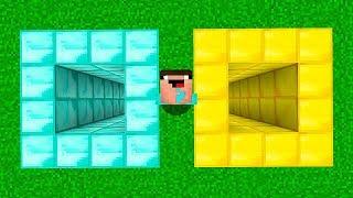 АЛМАЗНАЯ ЯМА против ЗОЛОТАЯ В МАЙНКРАФТ! Неудачник Нуб в Minecraft Троллинг Ловушка Мультик