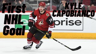 Kyle Capobianco #75 (Arizona Coyotes) first NHL goal 19/10/2019