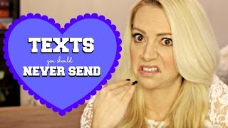 5 Texts You Should NEVER Send (if you like someone)!! TEEN EDITION