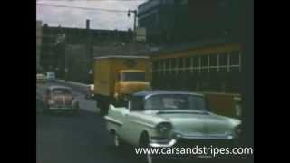 1957 Street Scenes - Milwaukee - Original Color Footage