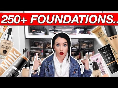 HUGE 250+ FOUNDATION COLLECTION & Organize With Me...