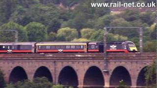 preview picture of video 'Grand Central HST crosses Welwyn viaduct'