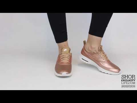 Women's Air Max Thea  Premium Metallic Bronze On feet Video at Exclucity
