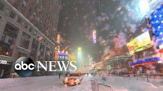 Massive Snowstorm Shuts Down East Coast