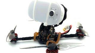 A 4K FPV Freestyle Toothpick - Happymodel Crux3 with an AKASO 4KHD Keychain Camera