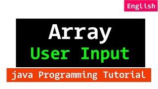 Array User Input using For Loop | Java Programming Tutorial