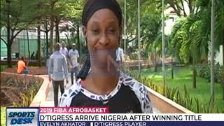 D'Tigress arrive in Nigeria after winning 2019 Afrobasket title
