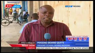 News just in: Maseno Principal Paul Otula was relieved of his duties on 7th April 2017