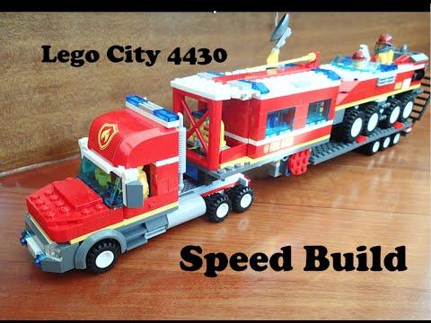 Vidéo LEGO City 4430 : Le transporteur des pompiers