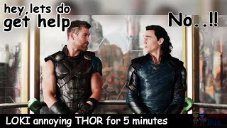 Loki & Thor Funny Moments | Aka Loki Being An Annoying Little Brother | Loki All Funny Scenes