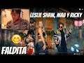 Reaccion A Leslie Shaw, Mau y Ricky - Faldita (Official Video)