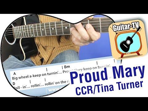 Proud Mary chords & lyrics - Tina Turner