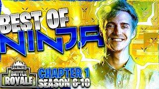 NINJA'S BEST MOMENTS FROM FORTNITE CHAPTER 1 (SEASON 6-10)