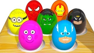 Learn Colors for Children With Superhero Surprise Eggs - Learning Color Video For Kids
