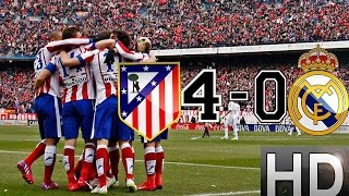 Atletico Madrid Vs Real Madrid 40 All Goals And Highlights  07022015 HD