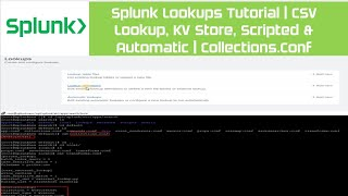 Splunk Lookups Tutorial   CSV Lookup, KV Store, Scripted & Automatic   Collections.Conf