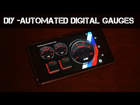 How to make Digital Gauges with an old Smartphone