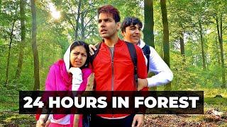 LIVING IN FOREST FOR 24 HOURS | Rimorav Vlogs