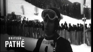 Internationale downhill skiwedstrijd Kitzbühel in 1966